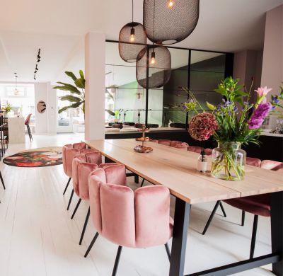 Velvet - eetkamer stoelen / wachtkamer stoelen (Different Colors) 2 Stuks