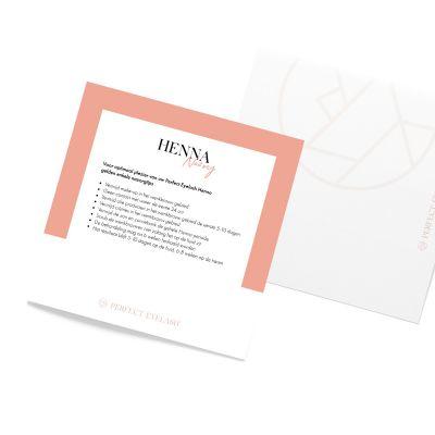 Nazorg-Informatie Briefjes Henna Nederlands